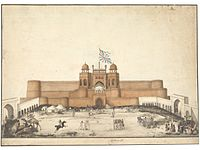 The Red fort, Agra, c. 1820