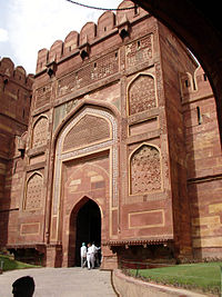 Amar Singh Gate, one of two entrances into Agra's Red Fort