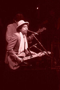 Dylan performs in Rotterdam Ahoy, the Netherlands, June 4, 1984