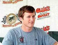 Kasey Kahne qualified on the pole position for Red Bull Racing Team