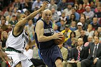 Kidd drives to the basket in 2008
