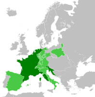 The First French Empire at its greatest extent in 1812:  style=padding-left: 0.6em; text-align: left;