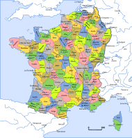 [[130 departments of the First French Empire|French départements] in 1801 during the Consulate