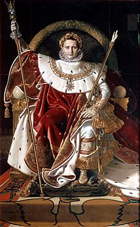 Napoleon I on his Imperial Throne by Jean-Auguste-Dominique Ingres, 1806