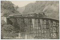 The Metlac rail bridge in 1897. There was large investment in rail transport during the Porfiriato