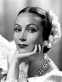 Actress Dolores del Río, Hollywood star in the 1920s and 1930s and prominent figure of the Golden Age of Mexican cinema in the 1940s and 1950s