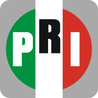 Logo of the Institutional Revolutionary Party, which incorporates the colors of the Mexican flag