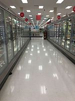 Grocery department inside a Target in Dublin, California (store #2771)