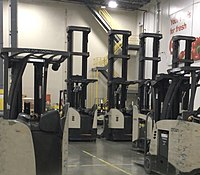 Reach forklifts at a Target distribution center.