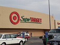 The exterior of a SuperTarget in Omaha, Nebraska, in October 2005. This store was remodeled in 2017. (Store #1777)