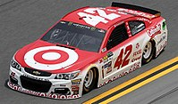 Target car driven by Chip Ganassi Racing driver Kyle Larson in the Monster Energy NASCAR Cup Series in 2017