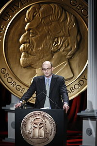 Jordan Hoffner at the 68th Annual Peabody Awards accepting for YouTube
