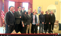 "Leading YouTube content creators met at the White House with U.S. President Obama to discuss how government could better connect with the ""YouTube generation""."