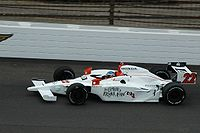 Hamilton practicing for the 2008 Indy 500