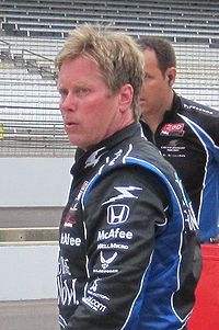 Hamilton at the Indianapolis Motor Speedway in May 2010.