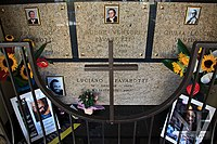 Grave of Luciano Pavarotti and his family in Montale Rangone