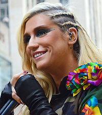 Kesha performing on the American television program Today in 2012
