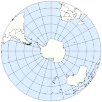 The Southern Hemisphere from above the South Pole
