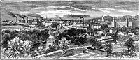 Woonsocket from the East, 1886 engraving