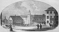 Woonsocket in 1855 (published in Gleason's Pictorial Drawing-Room Companion