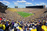 Michigan Stadium in Ann Arbor is the largest stadium in the Western Hemisphere, and the third-largest stadium in the world.