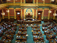 The floor of the Michigan House of Representatives