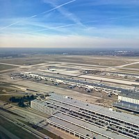 Aerial view of Detroit Metro Airport (DTW)