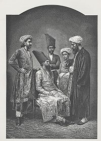 """""""Parsis of Bombay"""", a wood engraving, ca. 1878. Mumbai is home to the largest population of Parsis in the world."""