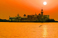 The Haji Ali Dargah was built in 1431, when Mumbai was under the rule of the Gujarat Sultanate.