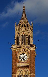Rajabai Clock Tower at the University of Mumbai is part of The Victorian and Art Deco Ensemble, a UNESCO World Heritage Site.