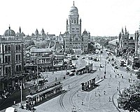 Municipal Corporation Building, Bombay in 1950 (Victoria Terminus partly visible on far right)