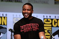 Coogler promoting Black Panther at the 2017 San Diego Comic Con International