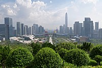 Futian CBD from Lianhuashan Park in 2018. After 20 years of growth.