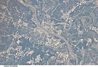 2011 astronaut photograph of Little Rock, Arkansas taken from the International Space Station (ISS)