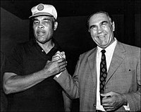 Louis and Max Schmeling, 1971. The former rivals became close friends in later life.