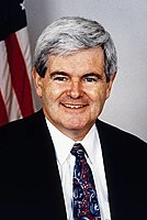 Newt Gingrich, 50th Speaker of the House of Representatives (1995–1999)