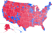 This map shows the vote in the 2004 presidential election by county.