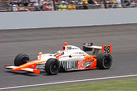 Wheldon competing for Bryan Herta Autosport at the 2011 Indianapolis 500