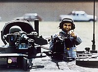 The photograph of Dukakis in an M1 Abrams tank from the US presidential election of 1988.