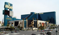 MGM Grand, with sign promoting it as The City of Entertainment