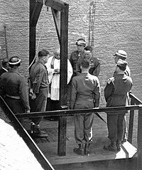 Execution of a war criminal in 1946