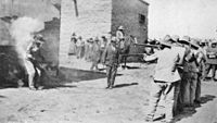 Mexican execution by firing squad, 1916
