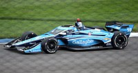 Max Chilton races through turn 14 during the 2020 IndyCar Harvest GP.