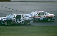 Wallace in the No. 2 (background) in 1985