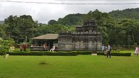 The Mahadev Temple, attributed to the Kadambas of Goa; in what is today Bhagwan Mahaveer Sanctuary and Mollem National Park.