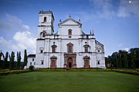 The Se Cathedral at Old Goa, built in 1619, is an example of Portuguese architecture and is one of the largest churches in Asia.