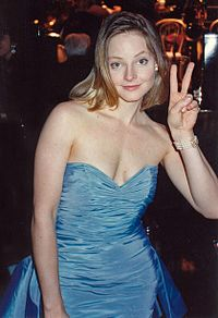 Foster at the Governor's Ball after winning an Academy Award for The Accused (1988). Her performance as a rape survivor marked her breakthrough into adult roles.