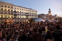 Demonstration against the crisis and high youth unemployment in Madrid, 15 May 2011