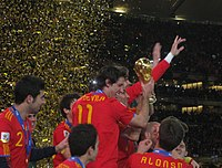 Football is the most popular sport in the country. Spain won the FIFA World Cup 2010.