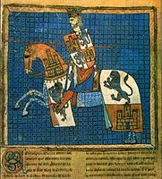 Portrait of Alfonso X of Castile and Leon from the codex Tumbo 'A' de Santiago (Dated between 1229 and 1255)